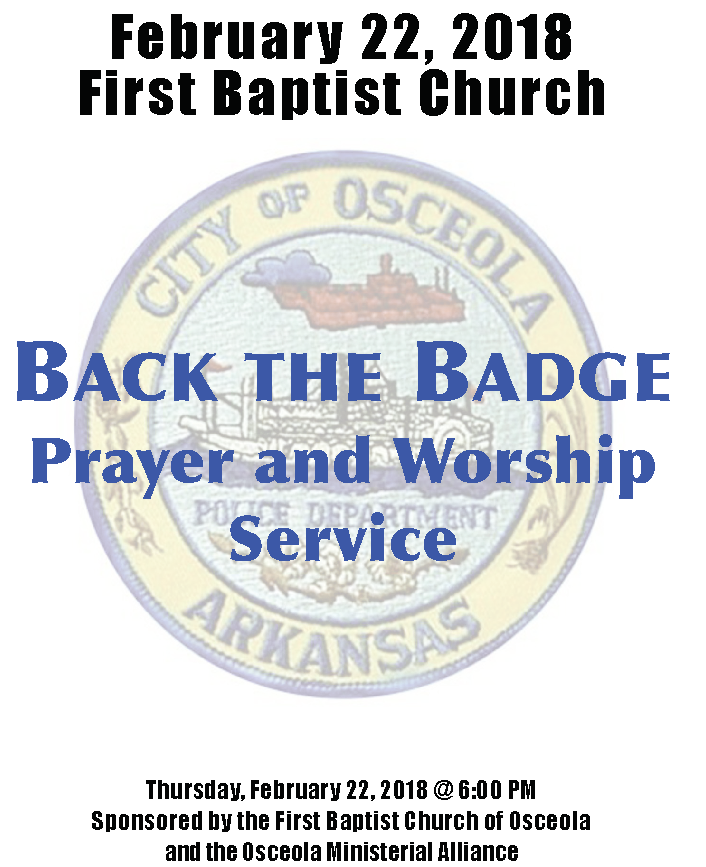 Back the Badge Flier