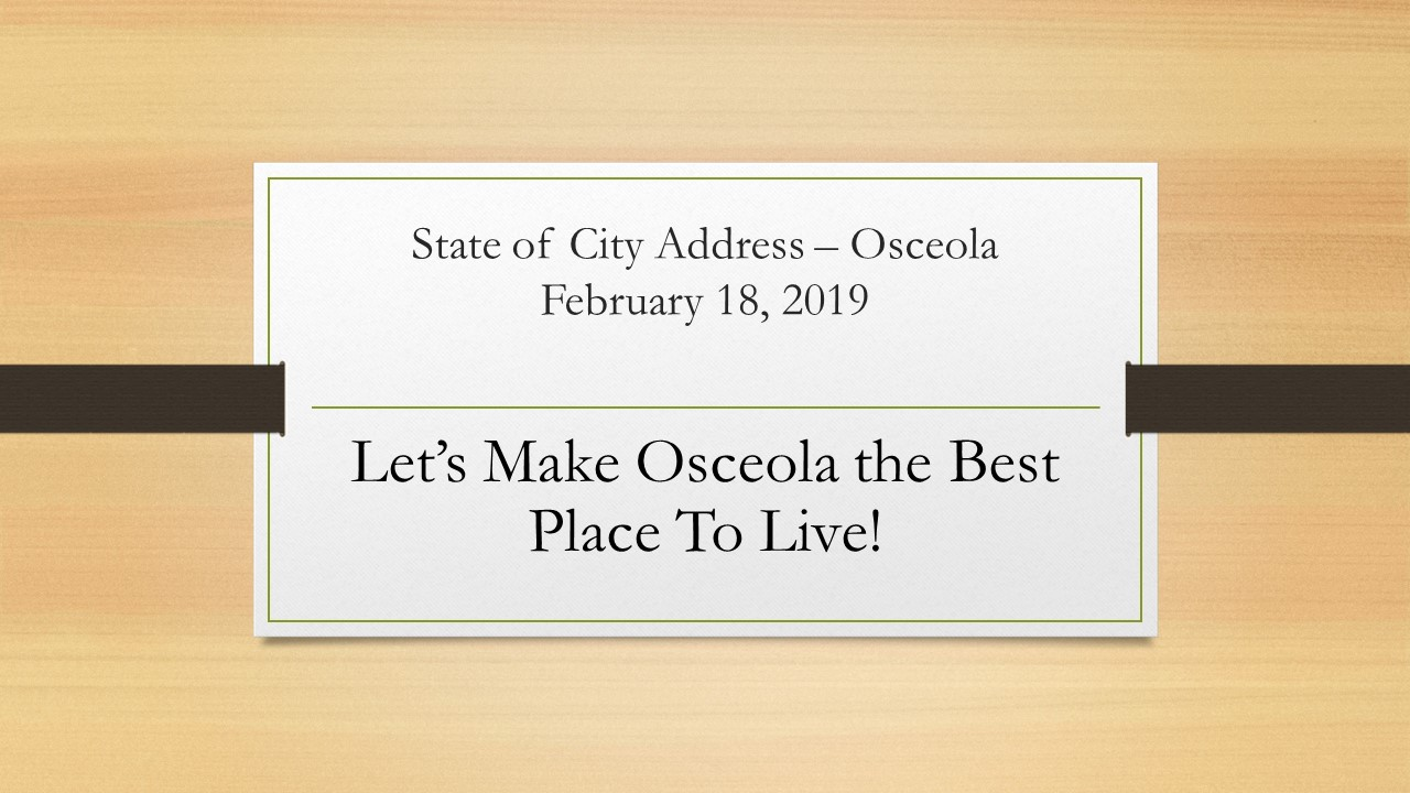 State of the City - Osceola, Arkansas